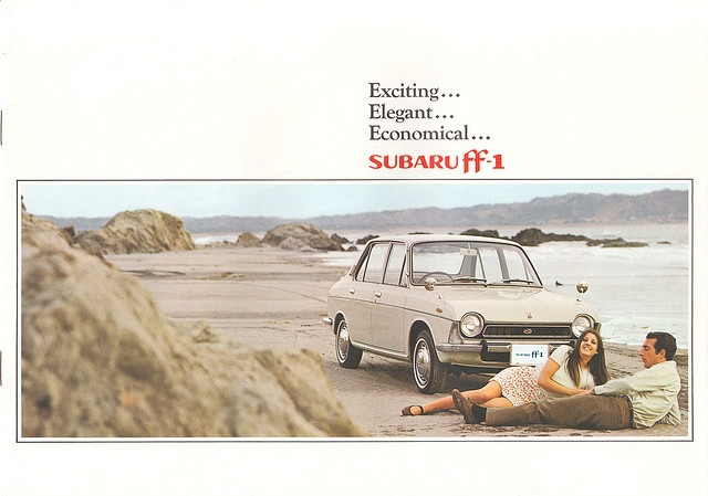 Subaru ff-1 01 by Michiel V, via Flickr  This is where Subaru AWD started.