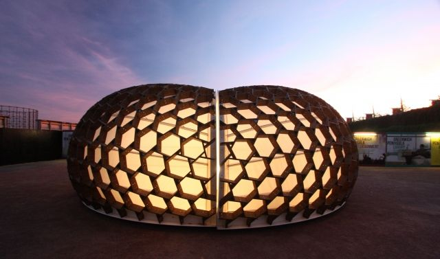 KREOD Pavilion - Inspired by nature made from Kebony wood