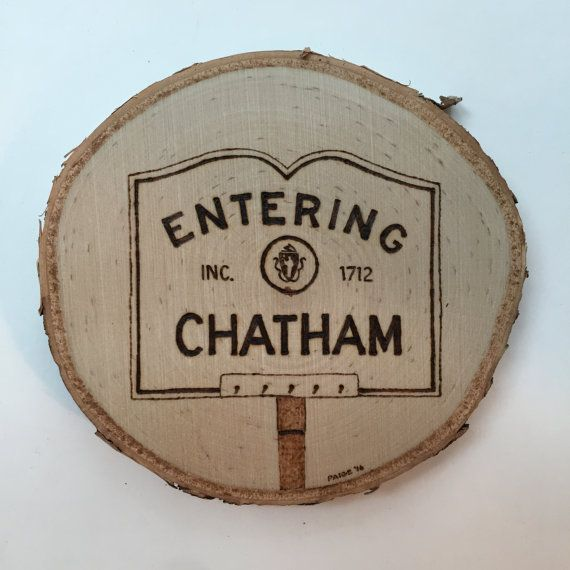 Custom Made to Order Massachusetts Town Sign Ornament - Chatham Franklin Harwich