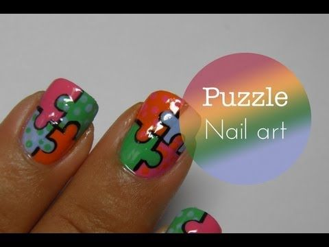 92 best autism awareness nail art images on pinterest stickers you can even make this nail design without the black lines or dots i had round shaped nails a week ago but found the puzzle nails fitting squared prinsesfo Image collections