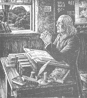 La familia de Christopher Saur imprimió tres versiones de la Biblia en alemán de Martín Lutero, las tres por primera vez: en 1743 la primera Biblia en lenguaje europeo en América. En 1763, la primera Biblia impresa en papel hecho en América.