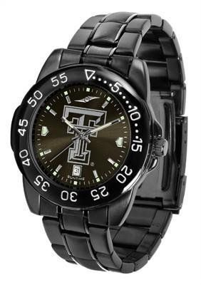 Texas Tech Red Raiders Men's Logo Watch by SunTime. $70.95. Officially Licensed Texas Tech Red Raiders Men's Stainless Steel Watch. Adjustable Band. Men. 3 Year Limited Warranty. Linked Steel Band. Texas Tech Red Raiders Men's Logo Watch. The FantomT boasts a bold but not in-your-face image of Red Raiders logo in metallic silver on a black Ano-Chrome dial. The watch features a dark gunmetal finish, a date calendar display and a rotating bezel/timer that circles ...