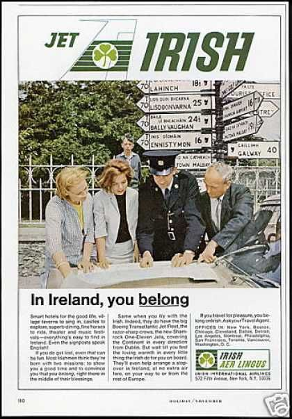 US print advertisement for Aer Lingus.