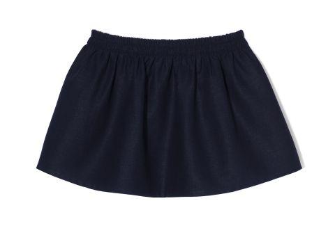 THE ODDER SIDE Linen mini skirt. Shop at www.theodderside.com