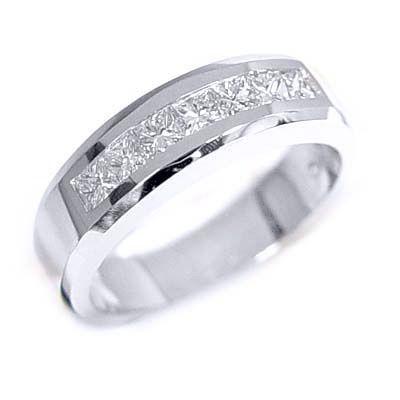 1.25 Ct. Men's Diamond Wedding Ring Channel Set - Mens Diamond Wedding Rings