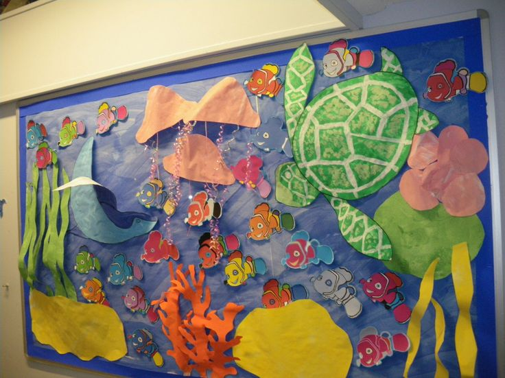 Classroom Display Ideas Under The Sea ~ Paper ocean display finding nemo classroom