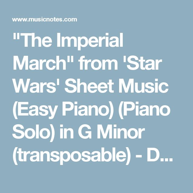 star wars piano solo pdf