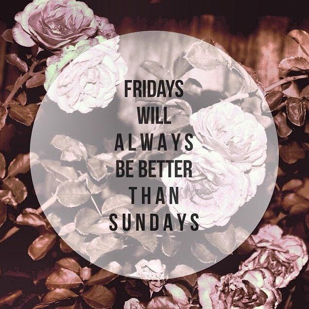 Thank god it's Friday cause...