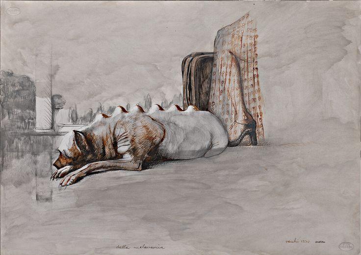 1975.63.05 Sergio Vacchi, Della melanconia