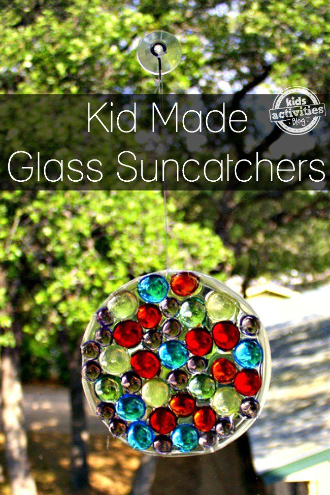 Here's an easy way to make a unique glass gem sun catcher from materials you may already have around your house.