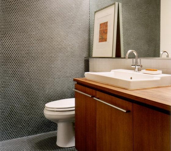 modern interiors design #bathroom floor and wall tile