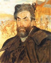 Portrait of Stanisław Witkiewicz by  Jacek Malczewski