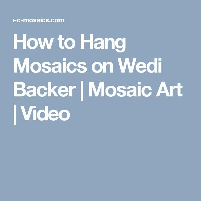 How to Hang Mosaics on Wedi Backer | Mosaic Art | Video