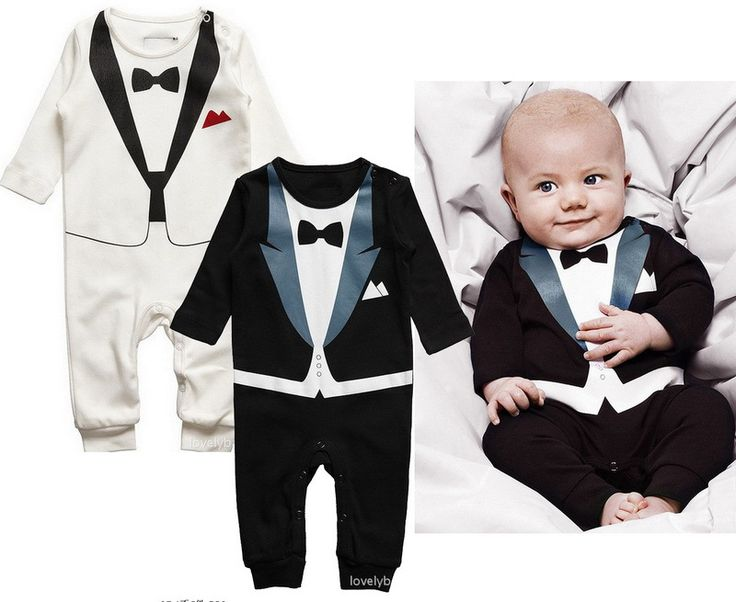 Haha, cute!  Tuxedo romper.  If only I had a reason to make something like this for my little guy.