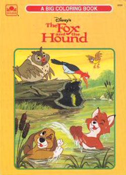 The Fox And Hound Big Coloring Book 1994