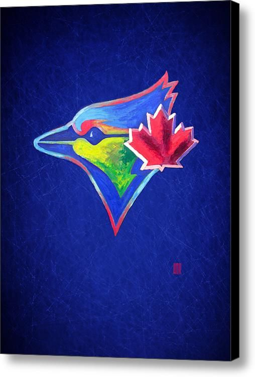 Toronto Blue Jays Baseball Canvas Print / Canvas Art By Dan Haraga