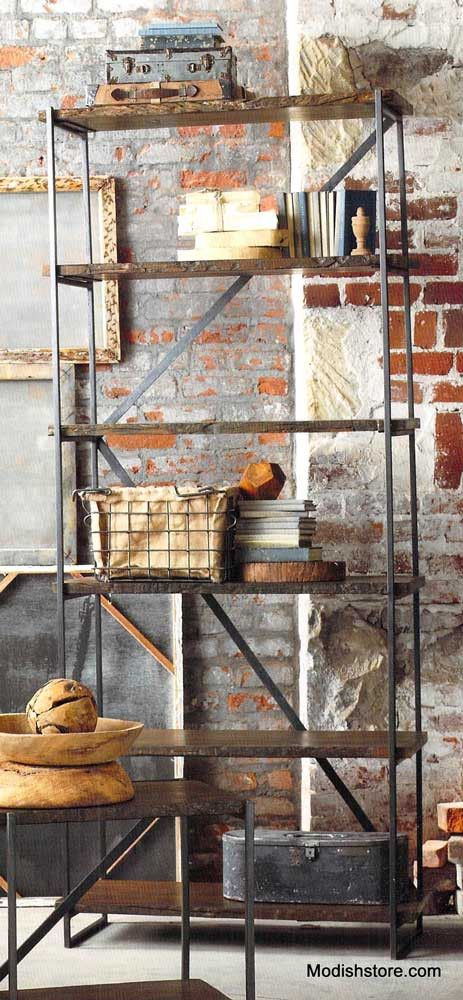 Roost Recycled Wood Tall Narrow Shelf