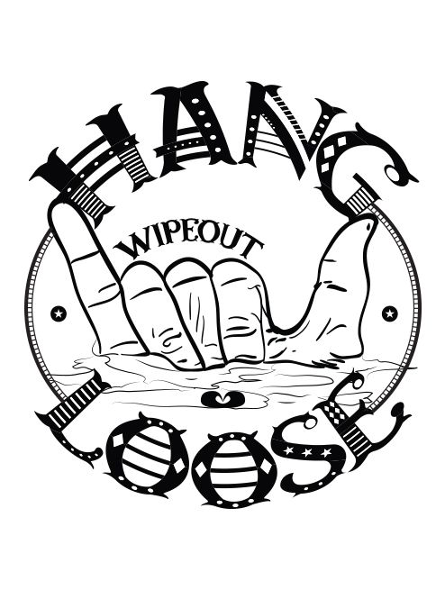 Hang loose - #Surf style - Font by Tano Veron