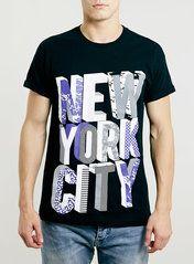 BLACK NEW YORK CITY T-SHIRT