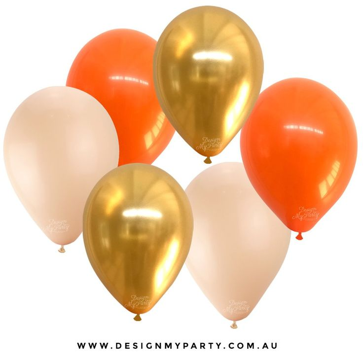 Orange, Gold, Blush Balloons (12 Pack)