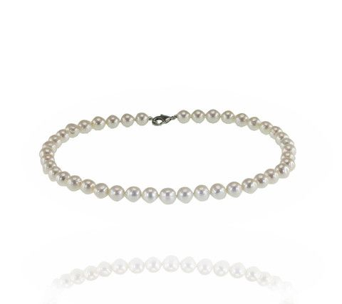 Pure Pearl™ 9mm Strand 40cm in length with a rhodium plated parrot clasp- Buy it now: http://www.australianpearldivers.com.au/collections/freshwater-pearls/products/pure-pearl-strand-19