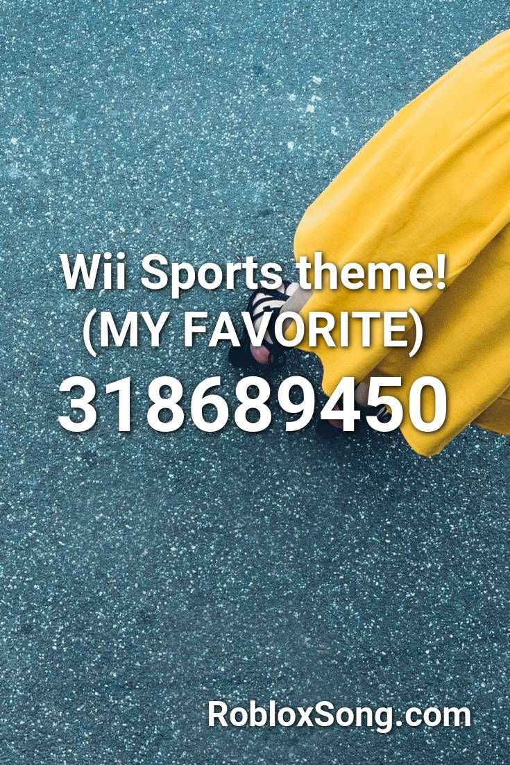 Pin By Vanessa On Roblox Wii Sports Roblox Sports Theme