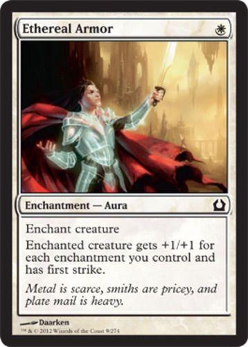 Ethereal Armor mtg Magic the Gathering Return to Ravnica white enchantment aura card Modern