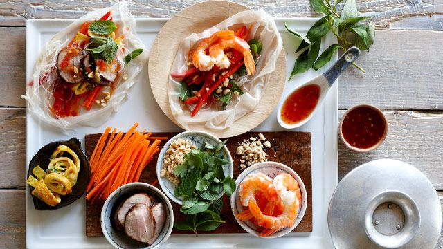 Vietnamese Rice paper rolls. Self serve
