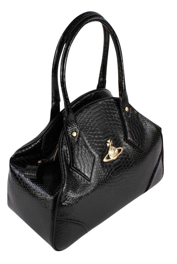 Vivienne Westwood Bags | Vivienne Westwood Frilly Snake Yasmin Bag - Black | Available at www.kjbeckett.com