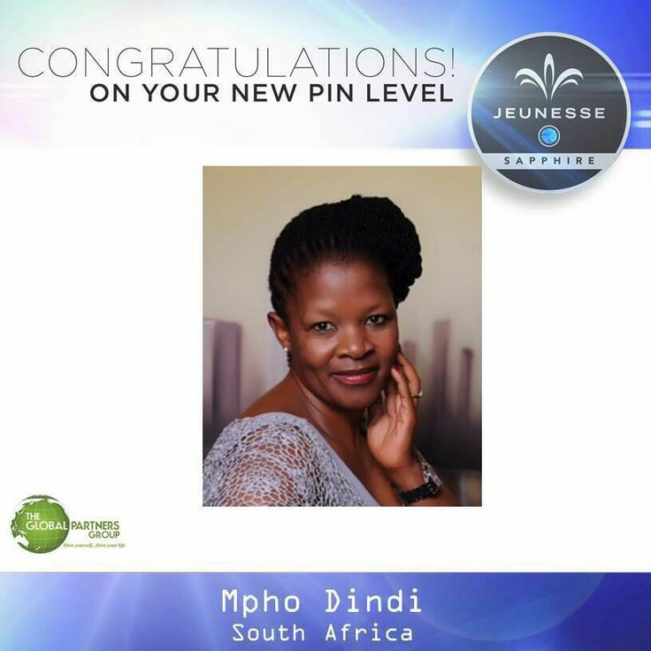 Congratulations Mpho Dindi ranking sapphire, 3rd in South Africa