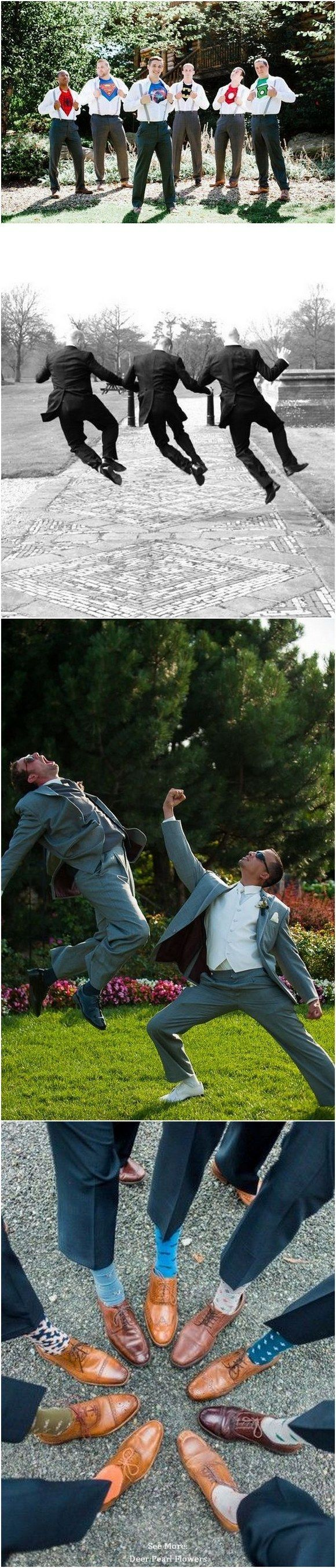 funny groomsmen wedding photo ideas /