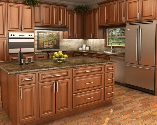 Kitchens With Maple Spice Cabinets