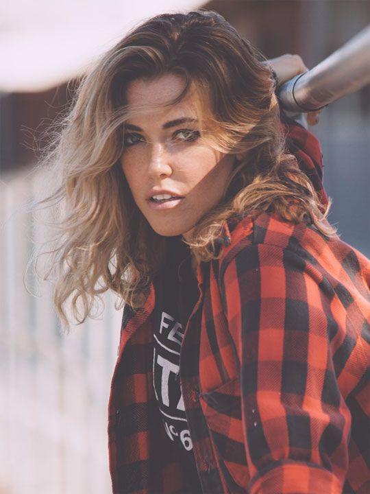 Rachel Platten.  optimized.  red and black plaid shirt