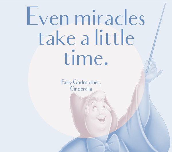 Even Miracles Take A Little Time Fairy Godmother Cinderella