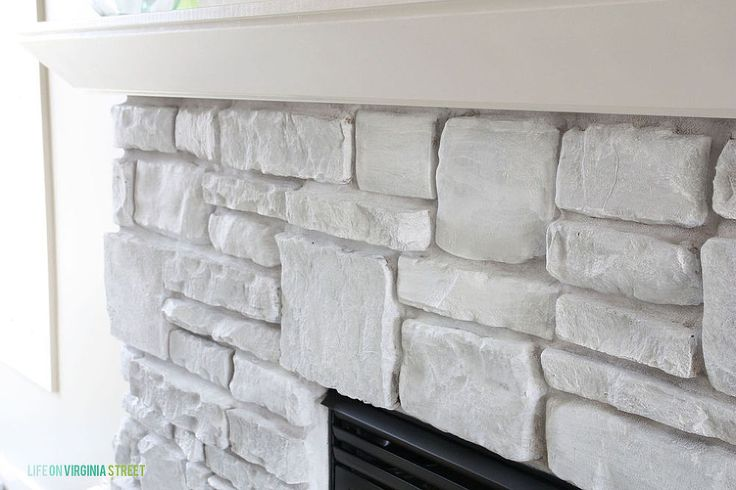1000 Ideas About Painted Stone Fireplace On Pinterest Stone Fireplaces Modern Cottage Style