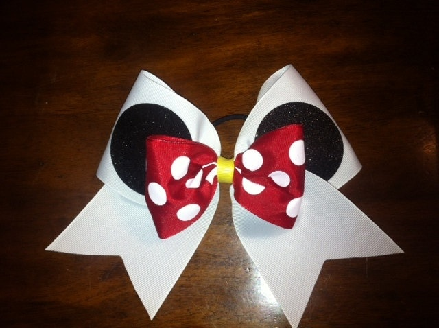 Minnie Mouse cheer bow!!