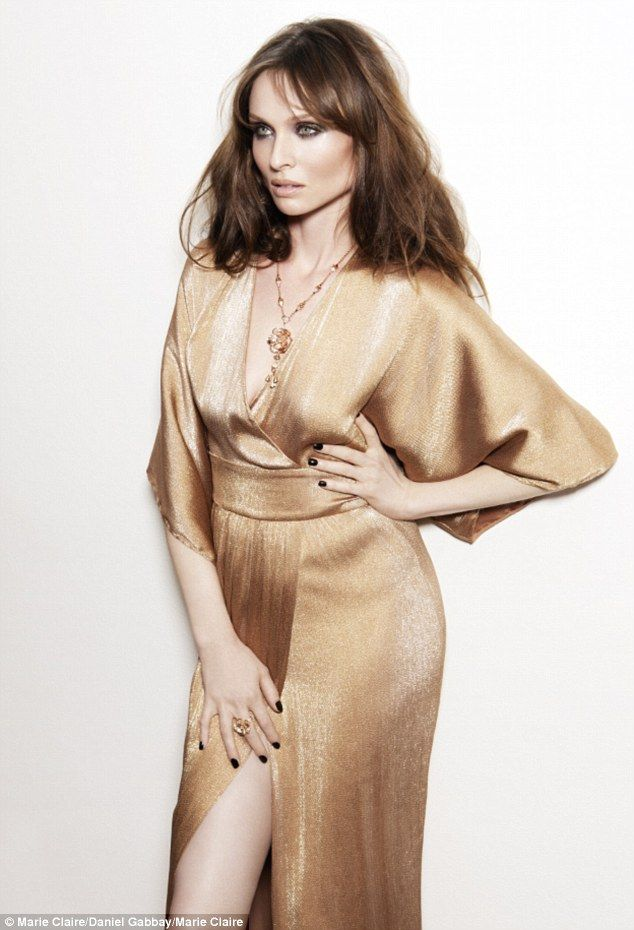 Golden girl: Sophie Ellis Bextor poses for the January edition of Marie Claire in a gorgeous metallic dress as she discusses her time on Str...