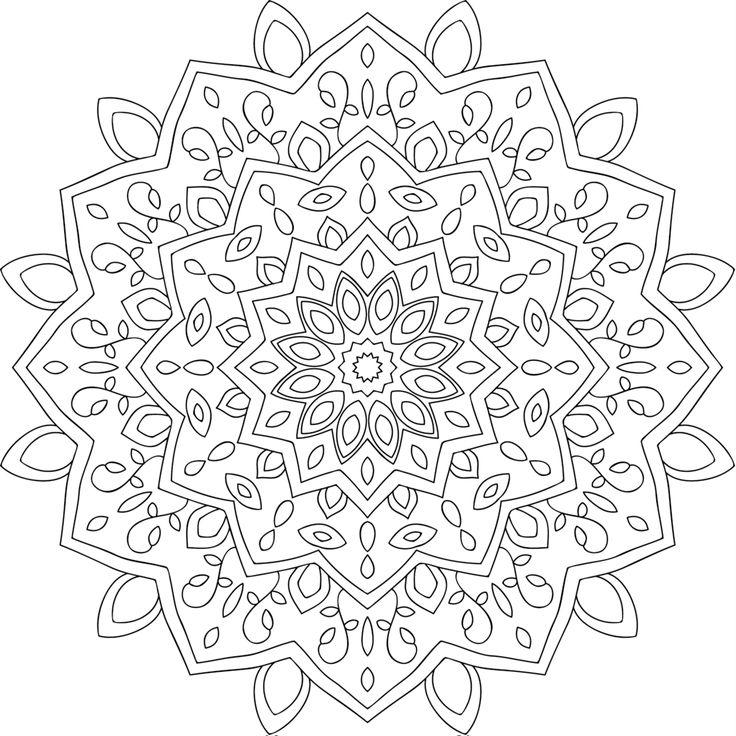 76 besten Ausmalbilder Mandala Bilder auf Pinterest