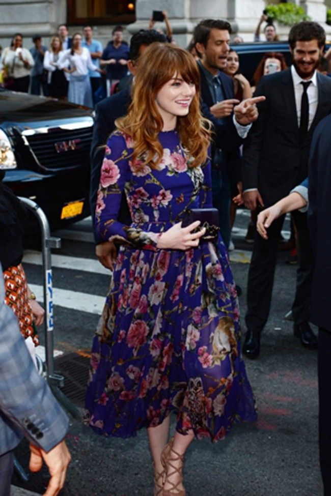 Emma Stone in Dolce and Gabbana