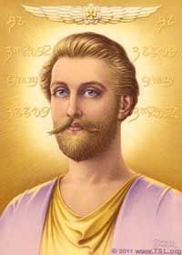 The ascended master Saint Germain, of the violet flame and the age of Aquarius: