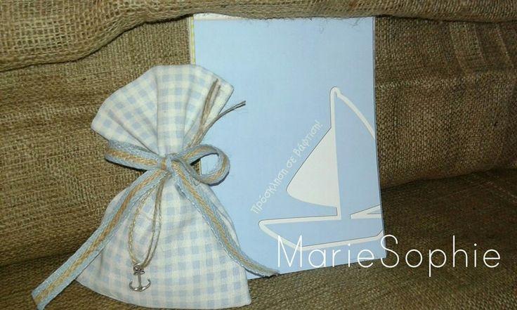 Μπομπονιέρα ναυτικό&προσκλητήριο#www.mariesophie.gr