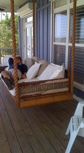 Hanging day bed made from antique shutters - eclectic - day beds and chaises - other metro - Charles Phillips Antiques and Architecturals