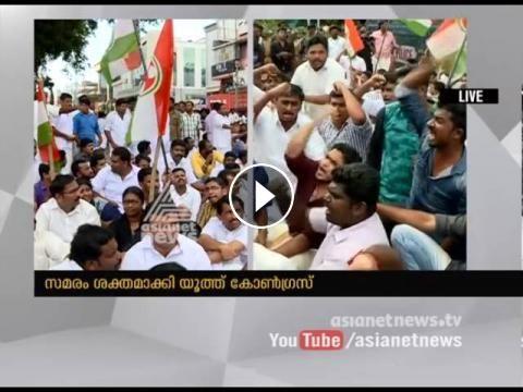 Youth Congress agitation turns violent in Thiruvananthapuram and Kochi
