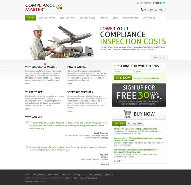 Compliance Master is owned and operated by Compliance Master International Pty Ltd. Our offices are located in Melbourne, Australia. #Softwaredevelopment