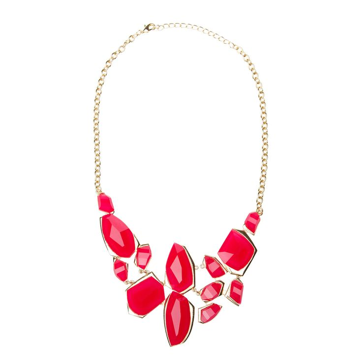 Rock Out: Bold Necklace, Red Necklace, Red Pumps