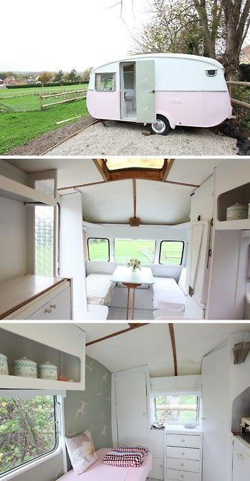 Minimalist camper airstream camping pinterest campers - The minimalist caravan ...