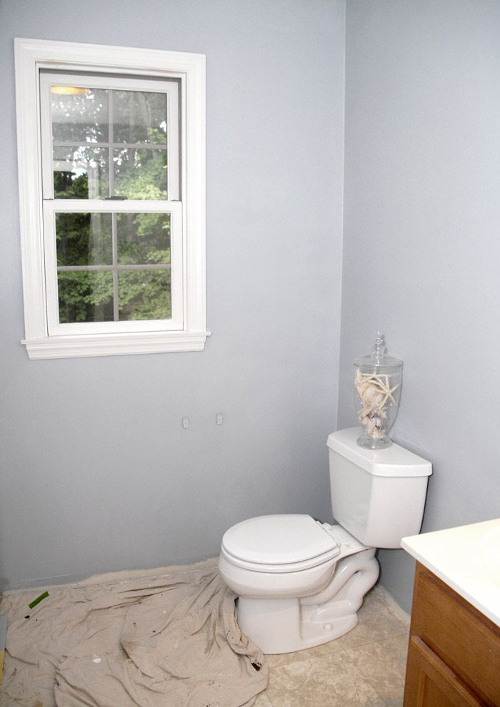 i just finished repainting to bathroom and what a difference it made it is now