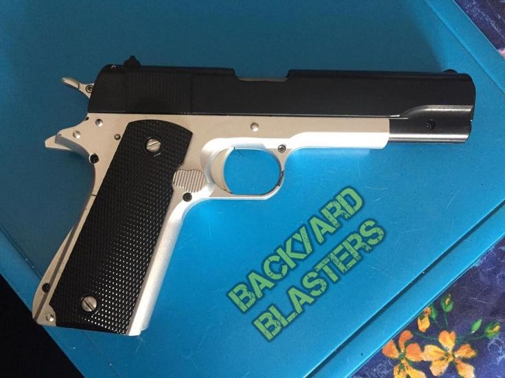 What do you guys think of this weeks customer submission? Yay or Nay? Its a black on silver paintjob of our Colt 1911 Toy Gun. #toys #custom #cosplay #props #locknload #backyardblasters #colt1911 #batman #costume #cosplay #cosplaying #dccosplay #dc #dccomics #guns #gunprop #harleyquinn #jaredleto #joker #jokercosplay #pistol #sdcc #suicidesquad #toygun #etsy #justiceleague #comicbooks #dcvillains #dcuniverse #thejokercosplay #jokergun