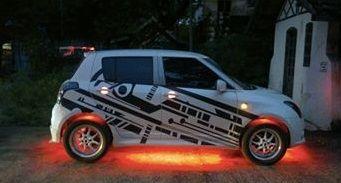 Modify Swift With graphics sticker & Crazy Lights