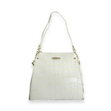 Tokyo White Satchel Bag